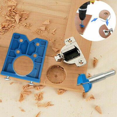 Concealed Cabinet Hinge Jig Wood Hole Saw Drill Locator Guide Tool 35mm • 5.59£