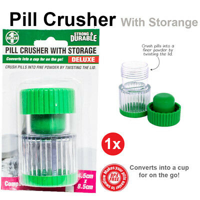 AU11.85 • Buy 2 Layers Pill Crusher Box Storage Hot Grinder Cup Cutter Splitter Tablet Divider