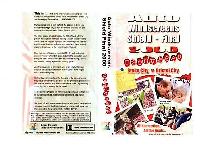 Stoke City Auto Windscreeens Shield -final 2000 Dvd • 10£