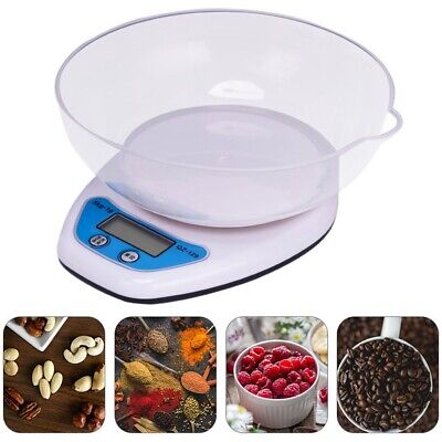 5kg Digital Kitchen Scales Lcd Electronic Cooking Food Measuring Bowl Scale • 6.49£