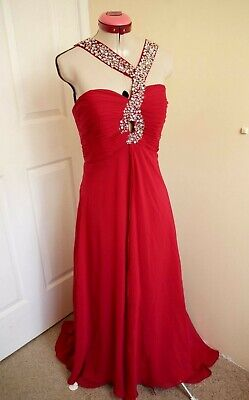 AU120 • Buy JJ'S HOUSE Red EVENING DRESS Size 14 BNWT NEW Beaded Cocktail Party Wedding