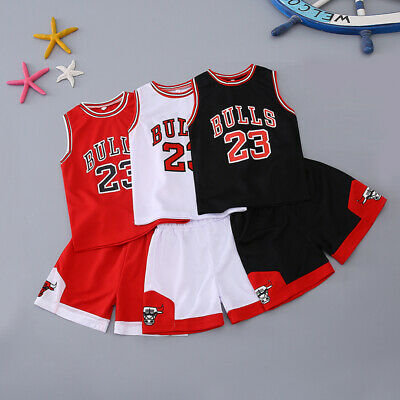 Kids Baby Boys#23 Basketball Jerseys Short Suits Kits Girls 1-10 Years Sets • 9.90£