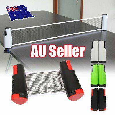 AU18.30 • Buy Table Tennis Net Rack Portable Retractable Replacement Ping Pong Kit Sports IW