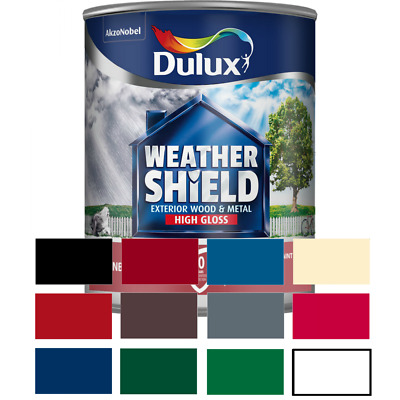 Dulux Weathershield Exterior Quick Dry&Satin&Gloss For Wood & Metal ALL COLOURS • 20.99£