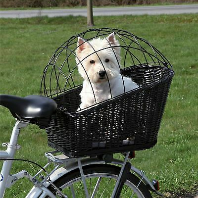 Rear Mounted Bicycle Rack Travel Cycling Basket Dog Cat Bike Carrier Wicker NEW! • 43.99£
