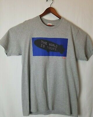 $ CDN175 • Buy Supreme Scarface Sz L The World Is Yours Blimp T-Shirt Gray 100% Authentic