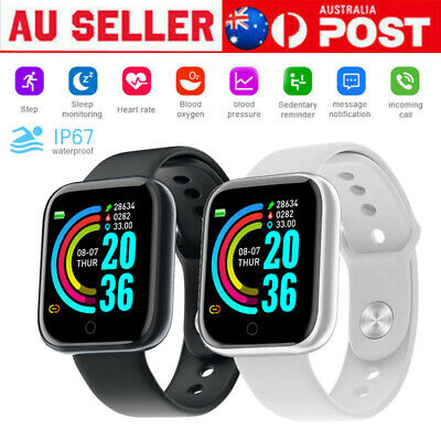 AU15.89 • Buy Smart Watch Bluetooth Heart Rate Blood Pressure IP67 Waterproof For IOS Android