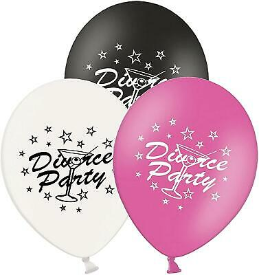 Divorce Party - 12  Printed Latex Balloons Pack Of 5 - Assorted - Dance Party Ti • 4.33£