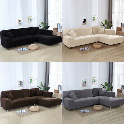 AU63.17 • Buy 🥇2/3/4 Seater L-Shape Sofa Cover Slipcover Protector Stretch Couch Set Durable