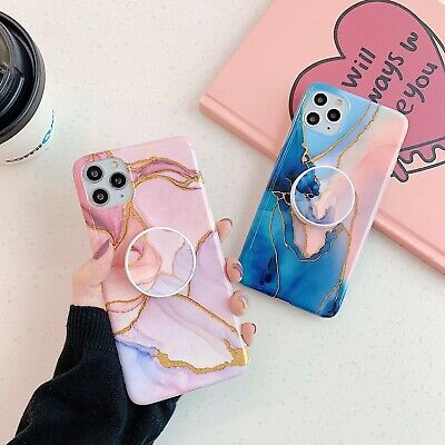 AU12.01 • Buy Glitter Marble Case With Up Holder Phone For Iphone 7 8 Plus X XR 11 Cases Cover