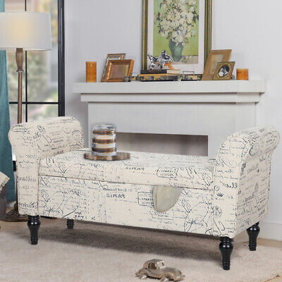 £139.95 • Buy Fabric Padded Ottoman Window Seat Bed End Storage Bench Stool Sofa Chaise Lounge