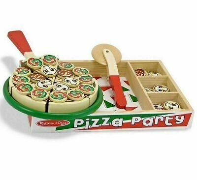 Melissa And Doug Pizza Party Wooden Play Food Set 54 Toppings Age 3+ 167 • 13.99£