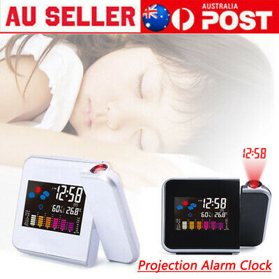 AU19.65 • Buy LCD Smart Alarm Clock Digital LED Projection Time Temperature Projector Display
