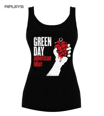 £8.99 • Buy Official Ladies T Shirt Vest Top GREEN DAY   American Idiot All Sizes