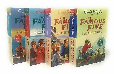 £14.95 • Buy The Famous Five 12 Titles In 4 Books Collection Set For Children By Enid Blyton