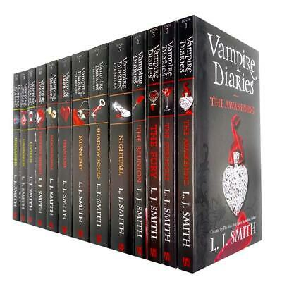 Vampire Diaries Complete Collection 13 Books Set By L. J. Smith (The Awakening) • 42.83£