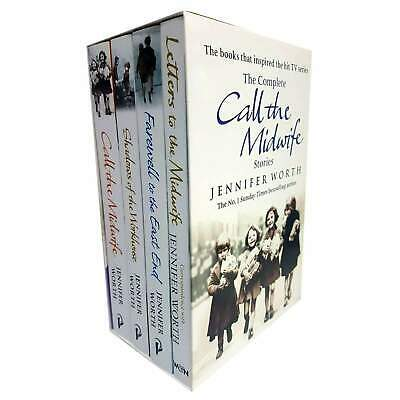 Jennifer Worth Call The Midwife Series 4 Books Set Collection Pack NEW • 16.95£