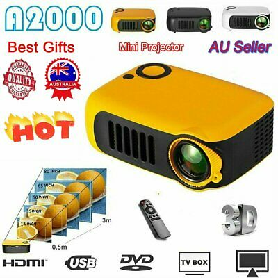 AU70.69 • Buy Mini Portable Pocket Projector HD 1080P LED Home Theater Video Projector HDMI AU