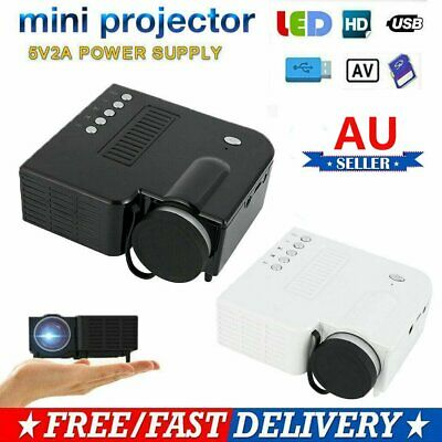 AU44.61 • Buy Mini Pocket LED Home Cinema Projector HD 1080P Portable Cinema Video USB 2020 AU