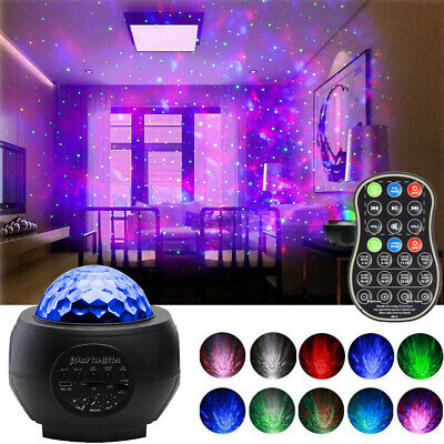 Galaxy Starry Night Lamp LED Star Projector Night Light Ocean Wave With Music ID • 20.59£