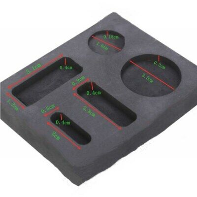 Graphite Crucible Ingot Bar Combo Mold Fit For Silver Gold Melting Casting • 8.69£