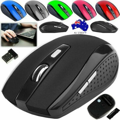 AU10.99 • Buy 2.4 GHz Wireless Optical Mouse USB Receiver 1600dpi Gaming Mice For PC Laptop