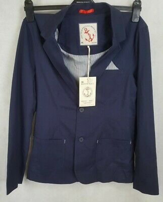 Brave Soul Mens Suit Jacket, Navy, Size 36S, 100% Cotton, New With Tags, RRP £55 • 23.99£