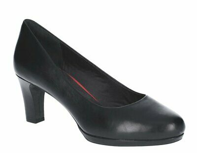 SALE Rockport Women's Total Motion Leah Pump Black Leather- HALF PRICE • 29£