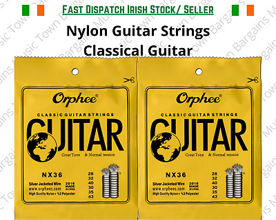 $ CDN11.69 • Buy Classical Nylon Guitar Strings Normal Tension Spanish Violāo Guitara Guitarra