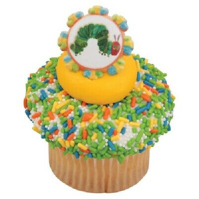 Cake Toppers Very Hungry Caterpillar Cupcake Rings One Dozen Eric Carle • 2.37£
