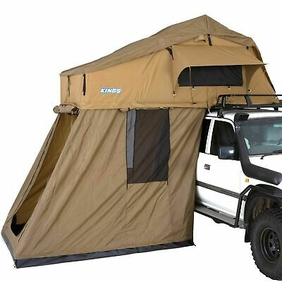 AU1018 • Buy Kings Premium Roof Top Tent With 4Man Annex 4WD Offroad Trailer Camping Car Rack