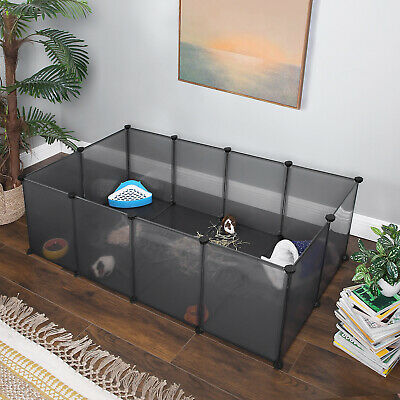 £29.99 • Buy Pet Exercise Play Pen With Bottom, DIY Enclosure Fence Cage For Small Animals