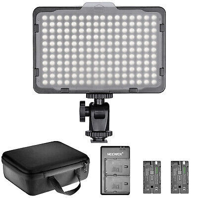 Neewer Dimmable 176 LED Video Light Lighting Kit 176 LED Panel 3200-5600K • 42.99£