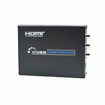 1080P HDMI To Composite 3RCA AV S-Video R/L Audio Video Output Adapter Converter • 18.99£