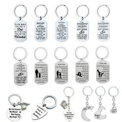 £4.79 • Buy Personalised Gifts For Her Him Mum Auntie Sister Brother Dad Son Keyring Present