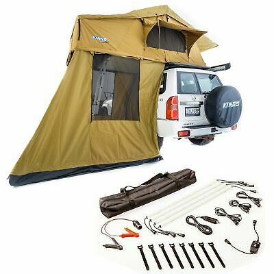 AU1047 • Buy Kings Roof Top Tent + 4 Man Annexe + 4 Bar Camp Light