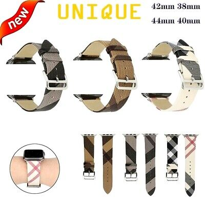 AU19.65 • Buy For Apple Watch Iwatch Series 5/4/3/2/1 38/40/42/44mm Luxury Leather Band Strap