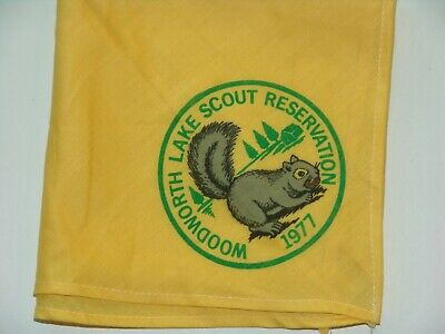 Woodworth Lake Scout Reservation 1977 Neckerchief • 6.26£