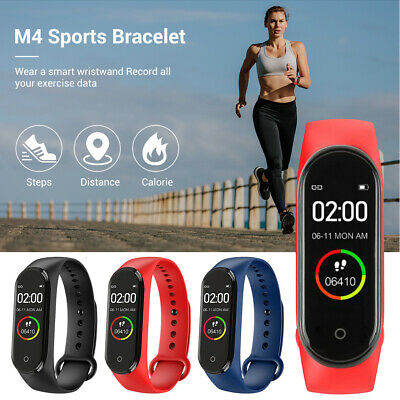 $ CDN9.06 • Buy M4 Smart Watch Band Heart Rate Blood Pressure Monitor Fitness Track Bracelet 6F