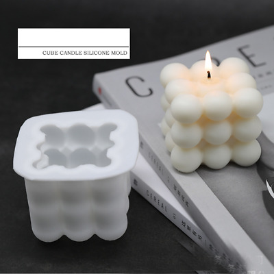 Cube Silicone Candle Making Mold Tea Light Mould Wax Resin Casting Epoxy Craft • 3.99£