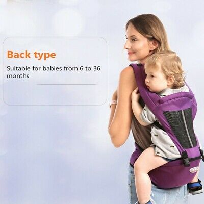 Baby Infant Carrier Toddler Newborn Waist Hip Seat Wrap Belt Sling Backpack UK • 17.59£