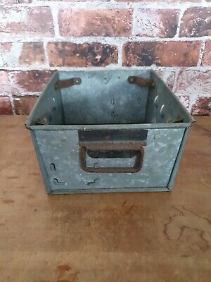 Vintage Galvanised Metal Garden Planter Trough Flower Plant Pots Container Herbs • 24£