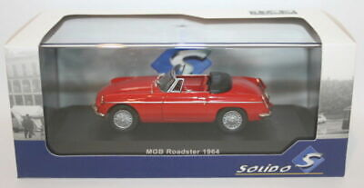 Solido 1/43 Scale Diecast - S4301200 - 1964 MG B Convertible - Red • 39.99£