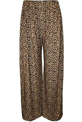 £6.50 • Buy Women's Leopard Print Palazzo Trousers - Wide, Baggy Style - All Sizes Available
