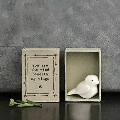 £5.95 • Buy East Of India MINI Matchbox Bird 'You Are The Wind..' Porcelain Gift