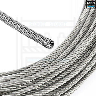 1mm 2mm 3mm 4mm 5mm 6mm 8mm 10mm GALVANISED STEEL WIRE ROPE LIFTING METAL CABLE • 0.99£