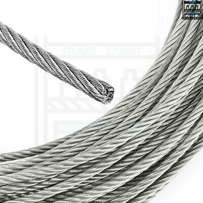 £1.99 • Buy 1mm 2mm 3mm 4mm 5mm 6mm 8mm 10mm GALVANISED STEEL WIRE ROPE LIFTING METAL CABLE