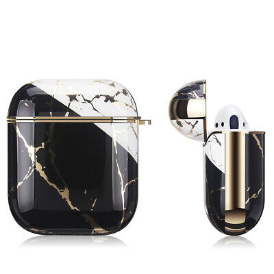 AU17.99 • Buy Apple AirPods Marble Gold Case Shockproof Cover Luxury W/ Holder (Portoro)