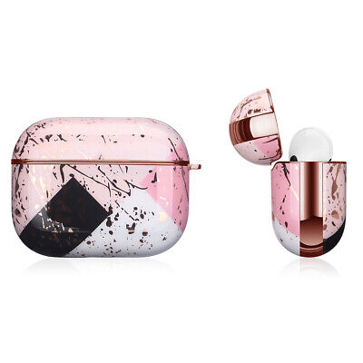 AU17.99 • Buy Apple AirPods Pro Marble Gold Case Shockproof Cover Luxury W/ Holder (Asaria)