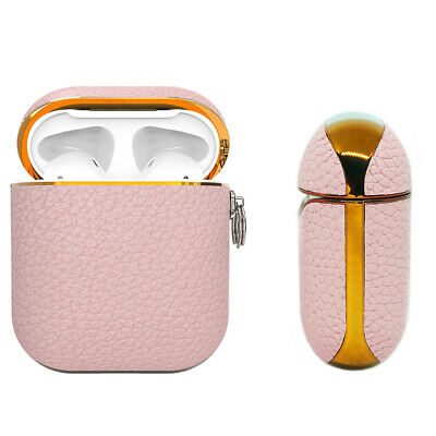 AU25.99 • Buy Apple AirPods Genuine Leather Case Pink Luxury Shockproof Cover - Mauve